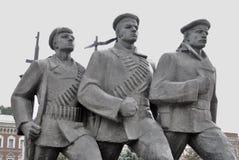 Monument zu den Helden der Volga-Flotte Stockbilder