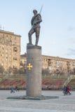 Monument zu den Helden des ersten Weltkriegs fragment moskau Stockbilder