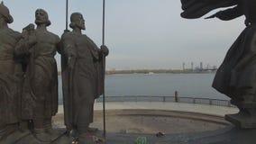 Monument zu den legendären Gründern von Kiew: Kiy, Schek, Khoryv und Lybid, Kiew stock footage
