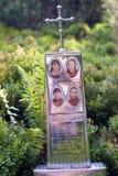 Monument zu den Opfern der Lawine stockbild