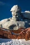 Monument zu den sowjetischen Soldaten in den Ruinen der Brest-Festung Stockfotos