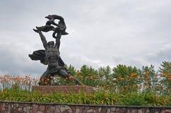 Monument zu den toten Arbeitskräften und zu den Feuerwehrmännern Stockbilder