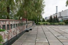 Monument zu den toten Arbeitskräften und zu den Feuerwehrmännern Stockfotografie
