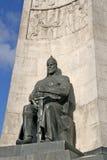Monument zu Ehren des 850. Jahrestages der Stadtgrundlage, Statue des alten Kriegers, Vladimir, Russland Lizenzfreie Stockbilder