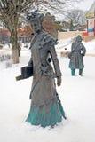 Monument zu einer Schullehrerfrau Stockbilder