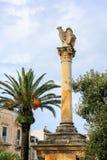 Monument zu gefallen in Ostuni, Italien Lizenzfreies Stockfoto