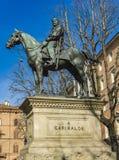 Monument zu Giuseppe Garibaldi im Bologna lizenzfreie stockbilder