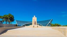 Monument zu Hazi Aslanov, Azerbaijani General Lizenzfreie Stockfotografie