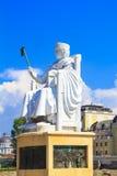 Monument zu Justinian das erste in Skopje, Mazedonien stockfoto