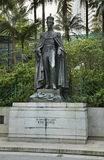 Monument zu König George VI in Hong Kong Park China Lizenzfreies Stockbild