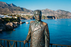 Monument zu König von Spanien Alfonso XII in Nerja Lizenzfreies Stockfoto