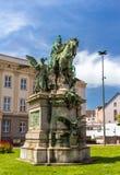 Monument zu Kaiser-Wilhelm-Denkmal in Dusseldorf Stockbilder