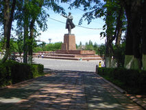 Monument zu Lenin von fern Stockbilder