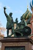 Monument zu Minin und zu Pozharsky auf Rotem Platz in Moskau Stockfoto