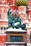 Monument zu Minin und zu Pozharsky. Lizenzfreie Stockbilder