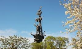 Monument zu Peter der Große stockfotos