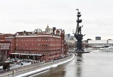Monument zu Peter der Große auf dem Moskau Lizenzfreie Stockfotos