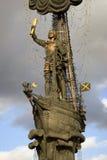 Monument zu Peter der Große Peter First in Moskau Lizenzfreie Stockfotos
