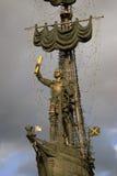 Monument zu Peter der Große Peter First in Moskau Lizenzfreies Stockfoto