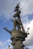 Monument zu Peter der Große Peter First in Moskau Stockbilder