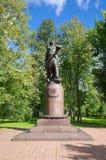 Monument zu Peter I in Izmailovo, Moskau, Russland Lizenzfreies Stockfoto