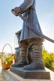 Monument zu Peter Rychkov und zu Alexei Uglitsky Solenoid-Iletsk stockfotografie