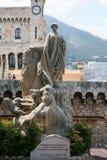Monument zu Prinzen Albert I in Monaco Stockbilder