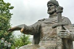 Monument zu Prinzen Yuri Dolgoruky der Gründer von Kostroma Prinz Yuri Dolgoruky - Gründer von Moskau lizenzfreie stockfotos