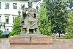 Monument zu Prinzen Yuri Dolgoruky der Gründer von Kostroma Prinz Yuri Dolgoruky - Gründer von Moskau Goldring von Russland lizenzfreie stockbilder