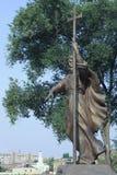 Monument zu St Andrew in Kharkov in Ukraine Stockbild
