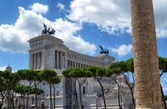 Monument zu Vittorio Emanuele II stockbilder
