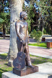 Monument zu Vladimir Vysotsky in Sochi Russland Stockfotografie
