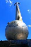 Monument zu Y Gagarin - der erste Mann in der Welt, fliegend in Stockfotografie