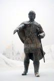 Monument zu Yuri Dolgorukiy in Dmitrov Cremlin Lizenzfreies Stockfoto