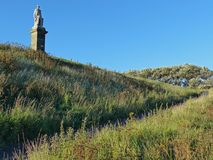 Monument zum Admiral Collingwood, Tynemouth Stockbild