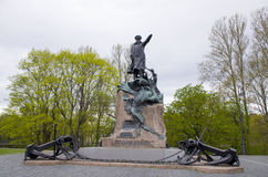 Monument zum Admiral Makarov in Kronstadt Lizenzfreie Stockfotografie