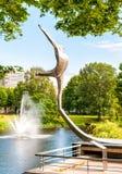 Monument zum berühmten lettischen Balletttänzer Maris Rudolfs Liepa Lizenzfreie Stockbilder