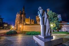 Monument zum Dichter Adam Mickiewicz Vilnius, Litauen Stockfoto