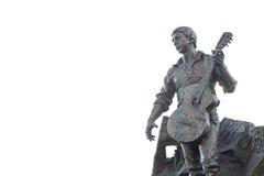 Monument zum Dichter Vladimir Vysotsky in Kharkov Stockfotos