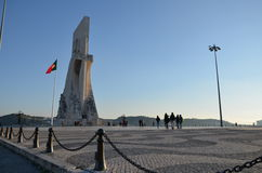 Monument zum Entdeckungen Belém-Quadrat stockfotos