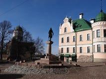 Monument zum Gründer von Wyborg Stockfotos
