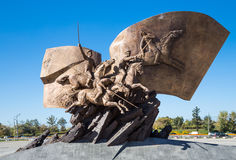 Monument zum Helden ersten Weltkrieg in Victory Park auf Poklonnaya-Hügel, Moskau, Russland Stockfotografie
