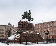 Monument zum Hetman Bogdan Khmelnitsky. Kiew Stockfotos