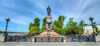 Monument zum Kaiser Alexander III. in Irkutsk Russland lizenzfreie stockfotos