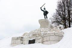 Monument zum Leiter des Izyumsky-Husarregiments, allgemein und des Kavaliers Dorokhov Ivan Semenovich 1762-1815, Vereya-Stadt, Na stockbilder