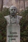 Monument zum Nationalhelden Dobri Chintulov aufgestellt in der bulgarischen Stadt Burgas im Seegarten lizenzfreies stockbild