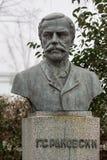 Monument zum Nationalhelden G S Rakovski stellte in der bulgarischen Stadt Burgas im Seegarten auf lizenzfreie stockbilder