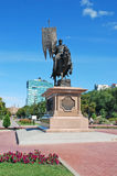 Monument zum Prinzen Georgy Zasekin - zum ersten voivode und zum Erbauer von Samara auf die Wolga-Damm Stockbilder