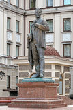 Monument zum russischen Opernsänger Feodor Chaliapin in Kasan Stockfotos