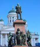 Monument zum russischen Zar Alexander II. Lizenzfreie Stockbilder